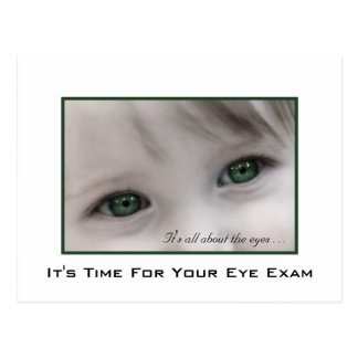 Green Eyes Eye Exam Appointment Reminder Postcard