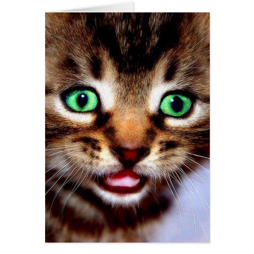 Green ...eyes greeting cards