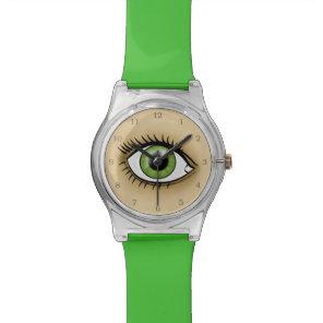 Green Eyes icon Wrist Watch