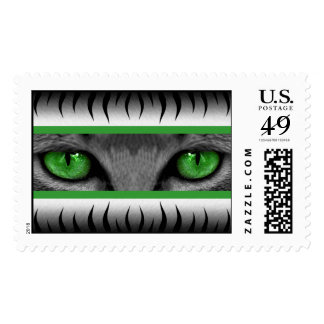 Green Eyes Postage Stamps