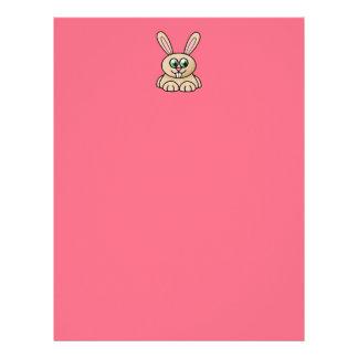 Green Eyes Rabbit Cartoon Art Letterhead