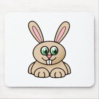 Green Eyes Rabbit Cartoon Art Mouse Pad