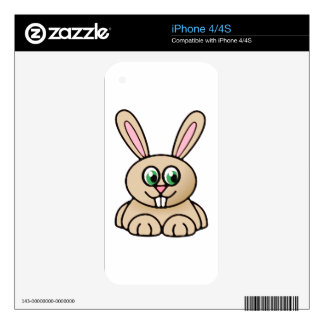 Green Eyes Rabbit Cartoon Art iPhone 4S Decal