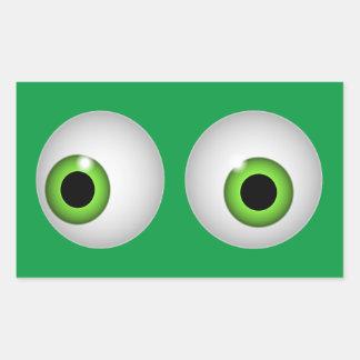 Green Eyes Rectangular Sticker