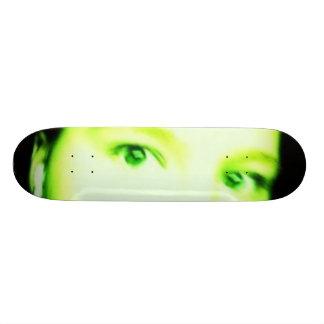 green eyes skate deck