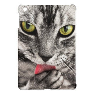Green eyes tabby cat close-up beautiful ipad case