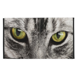 Green eyes tabby cat close-up caseable ipad folio iPad case
