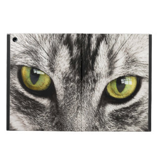 Green eyes tabby cat close-up ipad air cover