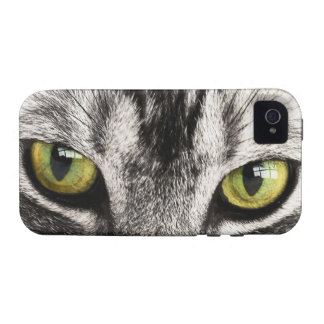 Green eyes tabby cat close-up iphone 4 case