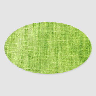 Green Fabric Texture Oval Sticker