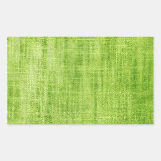 Green Fabric Texture Rectangular Sticker