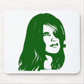 green face5 mouse pad