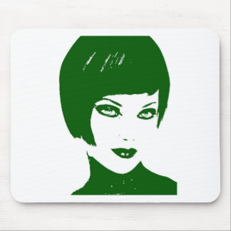green face6 mouse pad