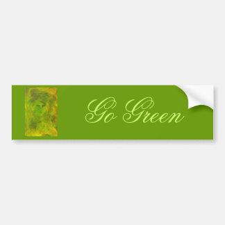 """""""Green Face"""" Go Green Bumper Sticker"""
