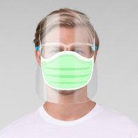 Green Face Mask Face Shield