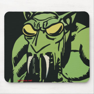 Green Face Monster Mouse Pad