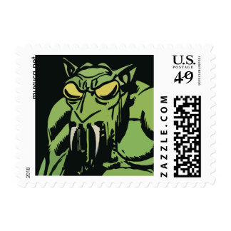 Green Face Monster Postage