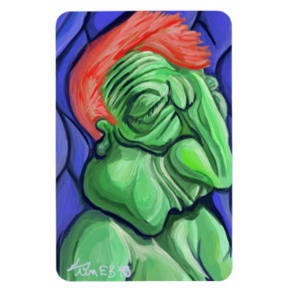 """""""Green Face"""" Rectangle Magnets"""