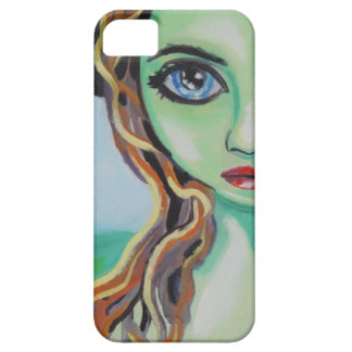 Green face witch with big blue eyes Gordon Bruce iPhone SE/5/5s Case