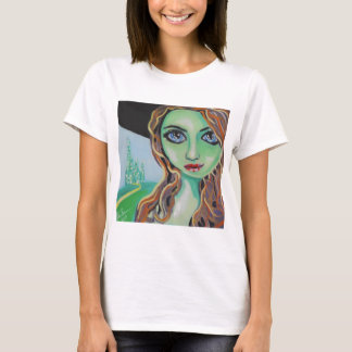 Green face witch with big blue eyes Gordon Bruce T-Shirt