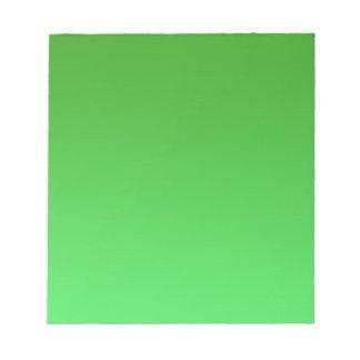 Green Fade Notepad