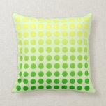 Green Fade Polka Dot Design Pillow 2 at Zazzle
