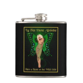 Green Fairy Absinthe Hip Flask