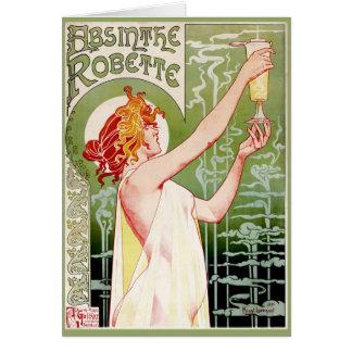 Green Fairy Absinthe w/ Gold Frame Card
