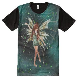 Green Fairy All Over Print T-Shirt