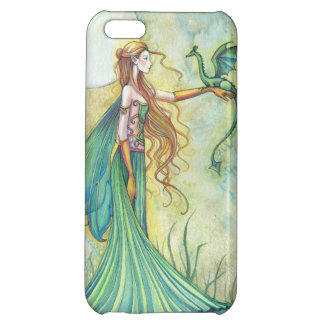 Green Fairy and Dragon Fantasy Art Iphone 5 Case