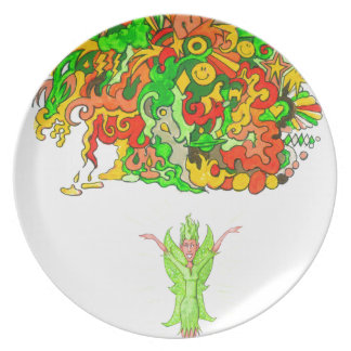 Green Fairy and Magical Fun Dinner Plate
