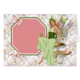 Green Fairy Greeting Card
