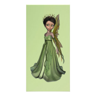 Green Fairy Custom Photo Card