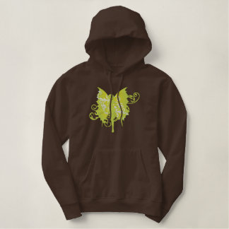 Green Fairy Embroidered Hoodie