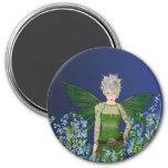 Green Fairy - Forget-Me-Not Fridge Magnet