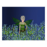 Green Fairy - Forget-Me-Not Posters