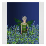 Green Fairy - Forget-Me-Not Print
