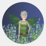Green Fairy - Forget-Me-Not Round Sticker