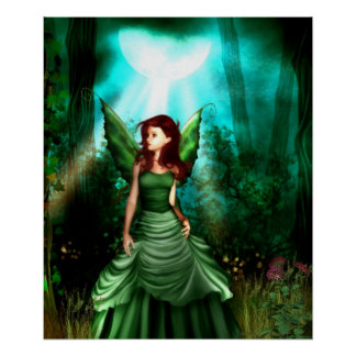 Green Fairy Glen Poster Print