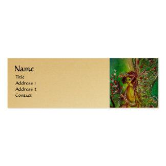 GREEN FAIRY, gold metallic, yellow Business Cards