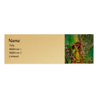 GREEN FAIRY, gold metallic, yellow Double-Sided Mini Business Cards (Pack Of 20)