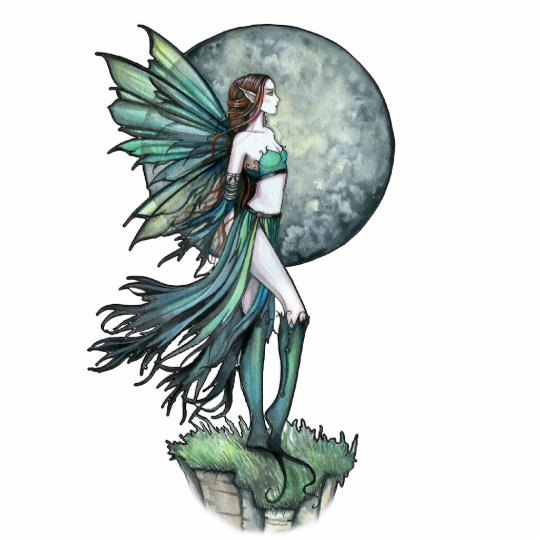Green Fairy Photo Sculpture by Molly Harrison