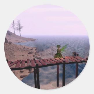 Green Fairy @ Pier Classic Round Sticker
