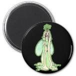 Green Fairy Princess Refrigerator Magnet