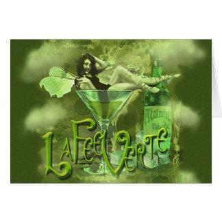 Green Fairy Splashy Collage I Greeting Card
