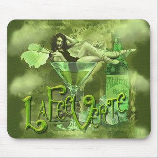 Green Fairy Splashy Collage I Mousepads