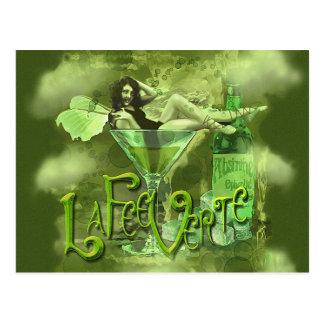 Green Fairy Splashy Collage I Postcard