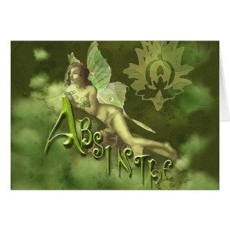 Green Fairy Splashy Collage II Greeting Card