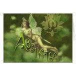 Green Fairy Splashy Collage II Greeting Cards