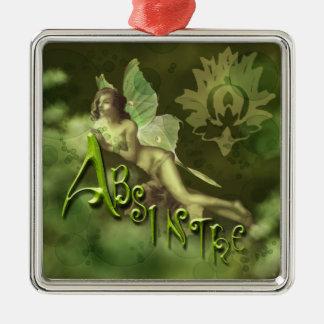Green Fairy Splashy Collage II Metal Ornament